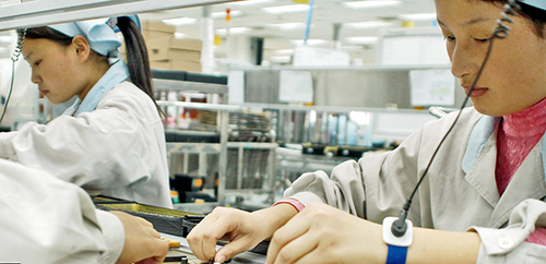 A DAY IN THE LIFE OF AN IPHONE FACTORY WORKER