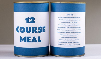 All In One: 12 course meal in a can